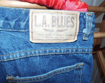 Vintage Mom Jeans High Waisted Denim Pants by L. A. Blues Fall Fashion 1980s Jeans