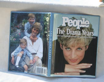 """Vintage 1997 """"People the Diana Years"""" Princess Diana Book / Hardcover w/ Dustjacket!"""