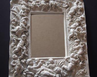 Shabby Chic White Angelic Wall Mirror
