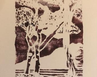 Purple Landscape (print)