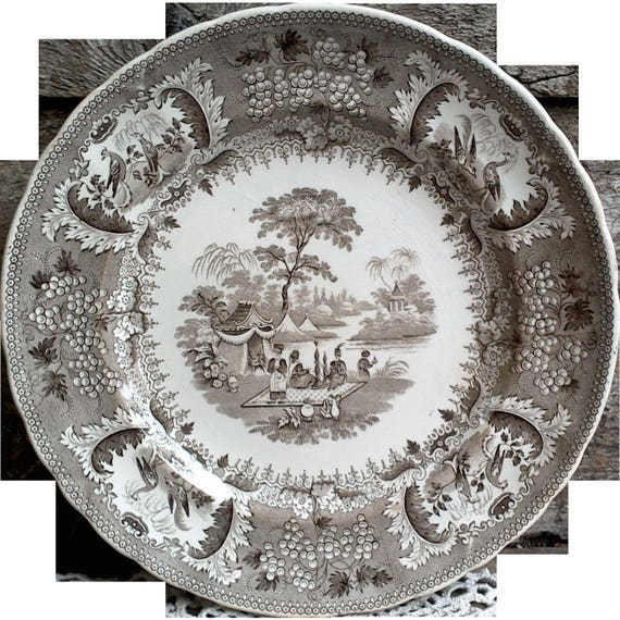 Antique French Side Plate, Ironstone Opaque Anglaise, Vieillard and Co, Bordeaux
