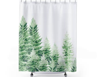 pine tree shower curtain forest shower curtain pine tree curtain tree shower curtain
