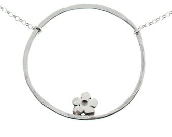Cherry Blossom sterling silver necklace