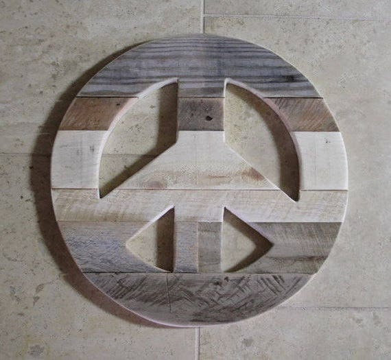 Wood Peace Sign Rustic Home Decor Peace Sign Reclaimed