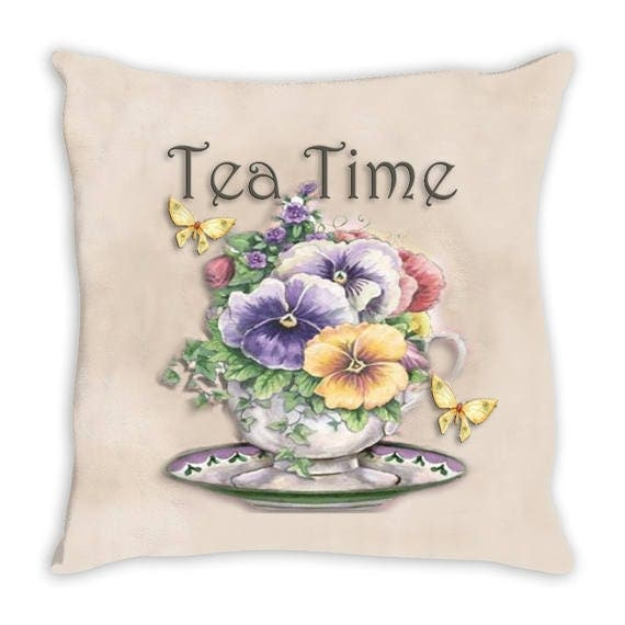 Etsy Shabby Chic Throw Pillows : Items similar to Throw Pillow. Beautiful Shabby Chic Tea Time Throw Pillow on Etsy