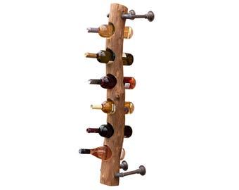 Wall Hanging Wine Rack wall mount wine rack | etsy