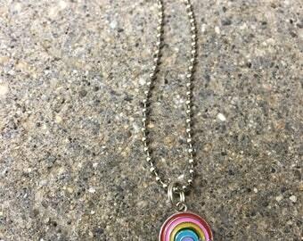 Unicorn jewelry rainbow necklace kids charm necklace pineapple jewelry dainty chain robot necklace