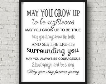 """INSTANT DOWNLOAD """"Forever Young"""" digital print baby shower gift"""