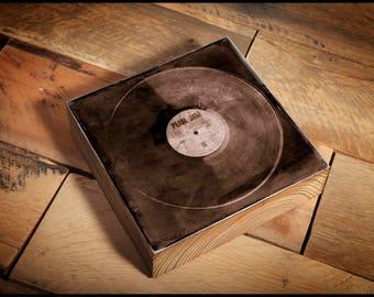 Pearl Jam Vinyl Album Ten  Reclaimed Wood Block
