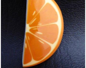 1 x orange fruit cabochon