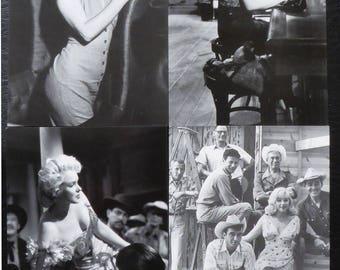 "Postcard style retro vintage women pinup marilyn ""model 4"" x 1"