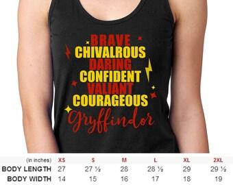 Men and Women Harry Potter Gryffindor House Shirt