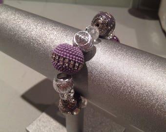 Elegant Lavender Beaded Stretch Bracelet