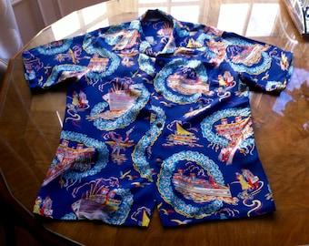 1940s/50s Hawaiian Shirt by Sun Surf Japan-Rockabilly
