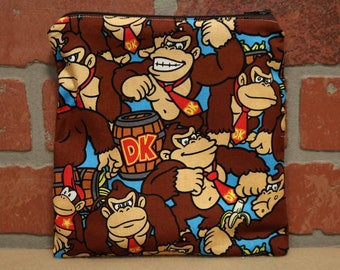 One Sandwich Bag, Donkey Kong, Reusable Lunch Bags, Waste-Free Lunch, Machine Washable, Sandwich Sacks, item #SS76