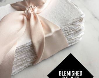 "BLEMISHED 2.5x3.5"" Handmade Cotton Rag Paper (25)"