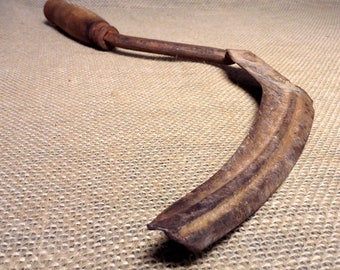 Hand Scythe or Sickle - Old Farm Tool - Reaping - Harvesting - Cutting - Hay, Grasses and Grain- Vintage  #2449-G3