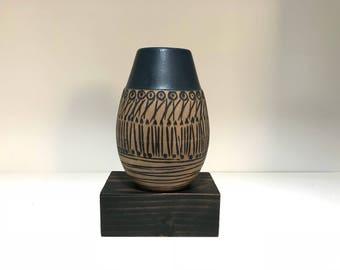 Lisa Larson Granada incised vase