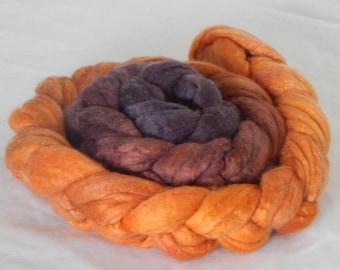 Merino Silk 50/50 Fiber, Sunflower Gradient 4.20 ounces, 120 grams