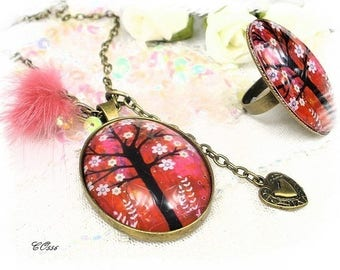 vintage tree of life necklace CO556