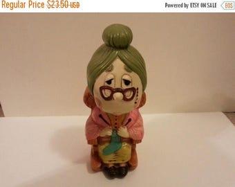 Ceramic Bank - Granny Knitting
