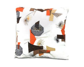 Accent Pillow Cover * Handmade * Vintage Atomic Design Fabric
