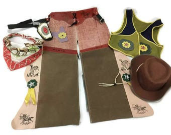 Vintage Children's Cowgirl Cowboy Costume * Child's Size Medium Outfit