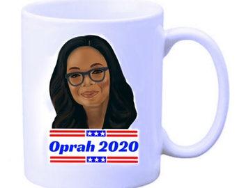Oprah 2020 illustrated mug
