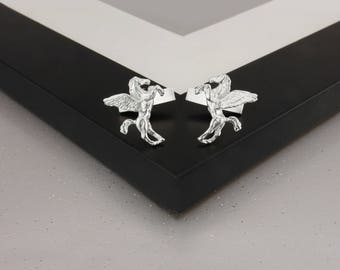 Pegasus Cufflinks in Sterling Silver.