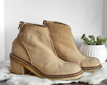 Size 6.5 Vintage Luichiny Suede & Leather Ankle Booties