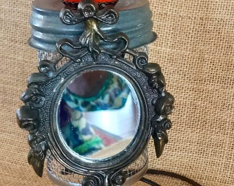 """Found object assemblage """"Hootie"""""""