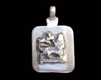 Ethiopian Lion of Judah Pendant : Ethiopia Jewelry Beads