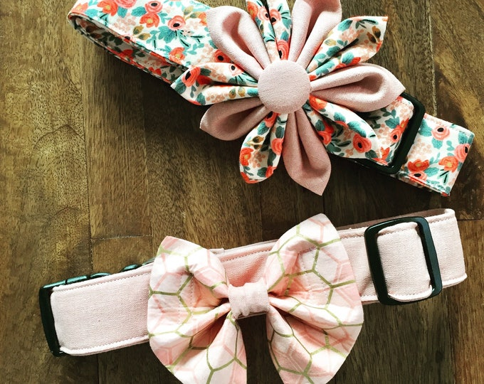 Rifle Paper Dog Flower and Matching Collar