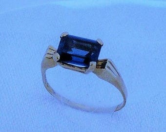London Blue Topaz 14K Yellow Gold
