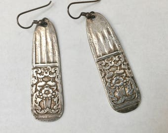 vintage spoon handle earrings