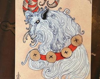 Yule Goat Greeting Card