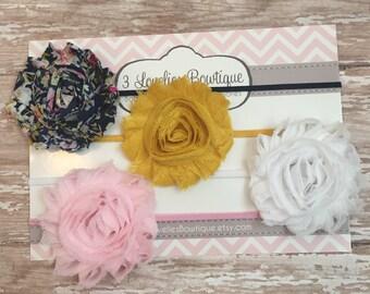Baby Headband,4 Headbands, Headband Set, Newborn Headband, Children's Headband, Headband, Baby Headband, Infant Headband, Baby. Baby Girl