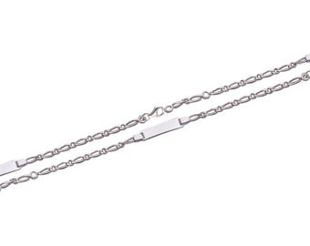 Silver curb chain Bracelet for child with engraved name 61658135 16 cm