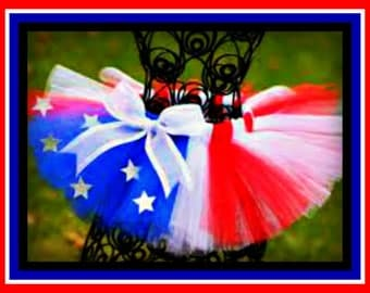 Womens Adult tutu. Red, White and Blue Stars and Stripes, 4th of July, Patriotic, flag tutu. Made in any size from newborns to adults.