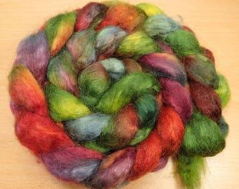 Autumn Hues - BFL, Kid Mohair top