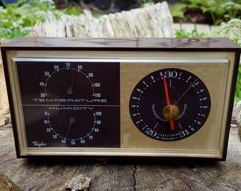 Vintage Art Deco Taylor Barometer / Thermometer / Stormoguide