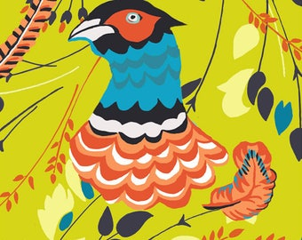 Pheasant and floral greeting card design by Kate Cooke