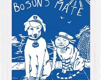 Bosuns mate art print, signed by the artist, mounted