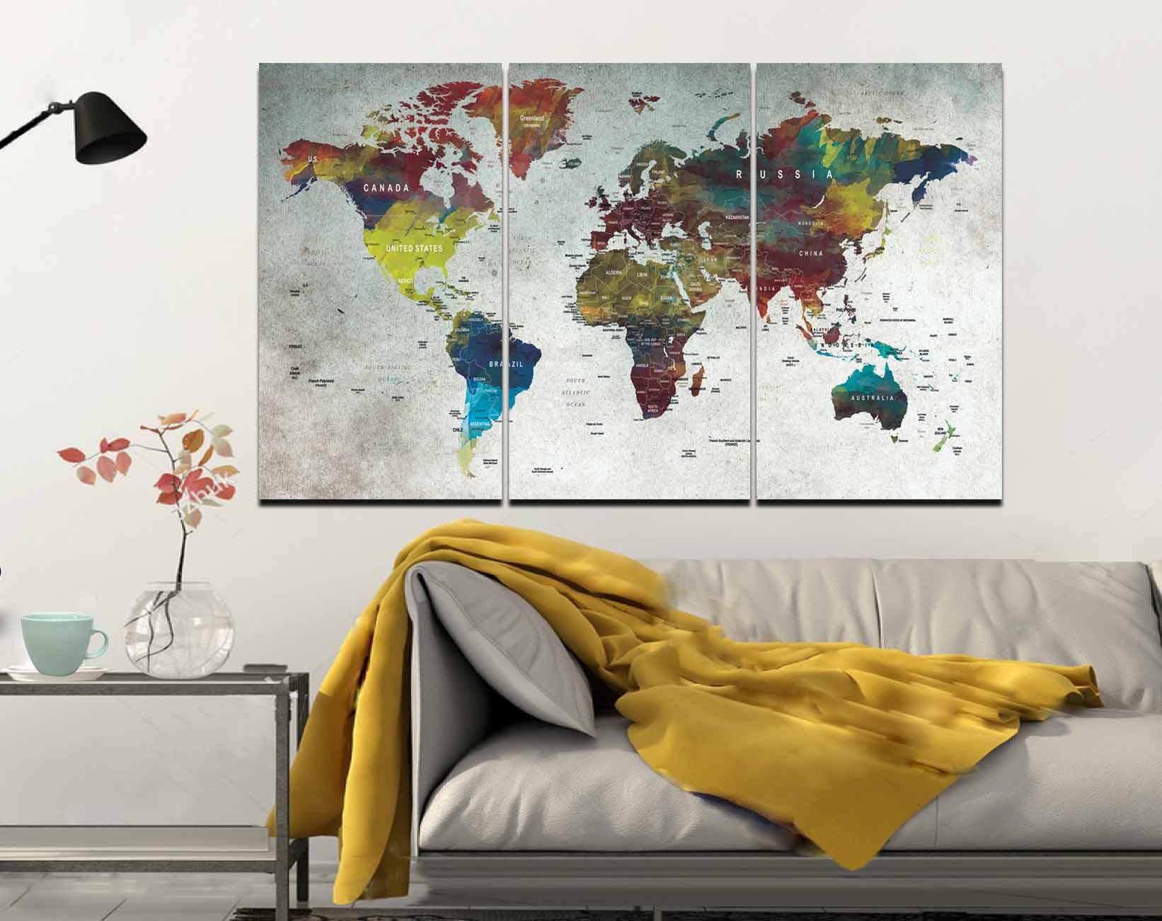 World mapmapwall artlarge world mappush pin mapabstract world world mapmapwall artlarge world mappush pin mapabstract world mappush pin map canvasdecorative canvas artworld travel mapmap canvas gumiabroncs Image collections