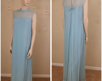 vintage 70s long maxi dress by Emma Domb ,Neiman Marcus size 11