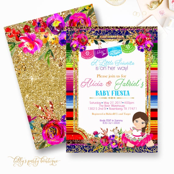 mexican themed powerpoint template - fiesta baby shower invitation mexican fiesta baby shower
