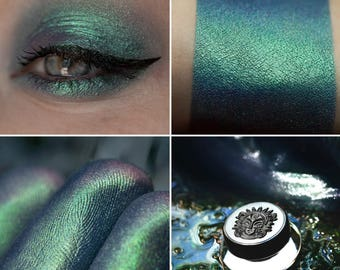 Eyeshadow: Confused Child - Mermaid. Blue satin eyeshadow by SIGIL inspired.