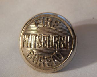 Pittsburgh Fire Bureau - Uniform Button Marked Pettibone Bros Mfg Co