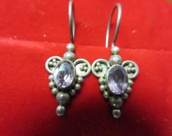 Sterling Silver Amethyst 925 Earrings