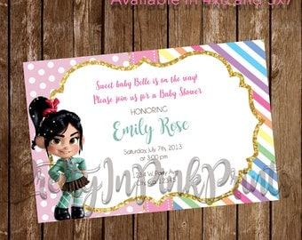 Vanellope Birthday/Baby Shower Invitation